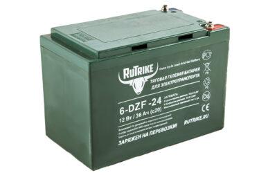 Тяговый гелевый аккумулятор  RuTrike 6-DZF-24 (12V24A/H C2)