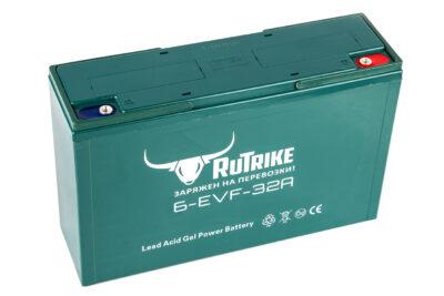 Тяговый гелевый аккумулятор RuTrike 6-EVF-32 (12V32A/H C3)