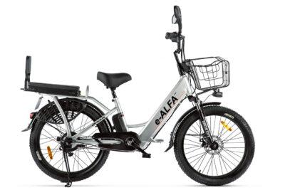 Велогибрид GREEN CITY e-ALFA Fat Серый-2407