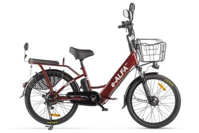 Велогибрид GREEN CITY e-ALFA new Коричневый-2153